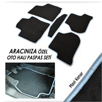 Bylizard Audi A6 1997-2004 Halı Paspas Seti Mavi Kenar-1021430