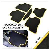 Bylizard Renault Clio 4 Sedan Halı Paspas Seti Sarı Kenar-0011516