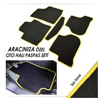 Bylizard Renault Fluence Halı Paspas Seti Sarı Kenar-0031518