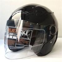Free-M 607 Yazlık Açık Motosiklet Kaskı (Parlak-Siyah)
