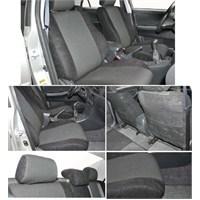 Z tech Peugeot 206 Siyah renk Araca özel Oto Koltuk Kılıfı