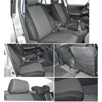 Z tech Honda City siyah renk araca özel oto koltuk kılıfı