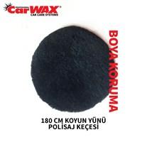 Carwax Koyun Yünü Polisaj Keçesi Siyah 180 Mm