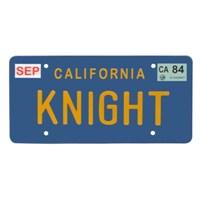 Knight Rider Kıtt Kara Şimşek Araba Plakası Replika