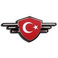 Z tech Türkiye Bayrağı Figürlü Sticker Arma 13215
