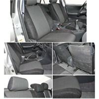 Z tech Renault Megane 3 - 2009 sonrası siyah renk araca özel oto koltuk kılıfı