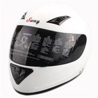 Sway 802 Full Face ECER Sertifikalı Beyaz Kask