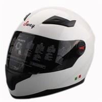 Sway 812 Single Visor Full Face ECER Sertifikalı Beyaz Kask