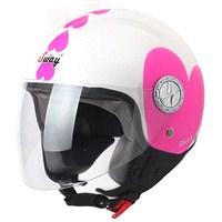 Sway 701 Open Face İtalyan Stil ECER Sertifikalı Kalpli Beyaz Kask
