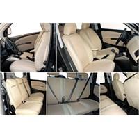 Z tech Peugeot 207 Krem (Bej) renk Araca özel Oto Koltuk Kılıfı