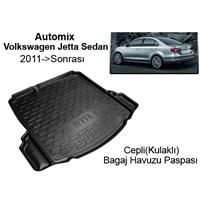 Automix Volkswagen Jetta Sedan Cepli Bagaj Havuzu Paspası 2011 ->Sonrası