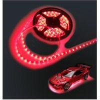 Auto 5mt Neon Kırmızı Şerit Silikonlu Elastik Led 12Volt 11056