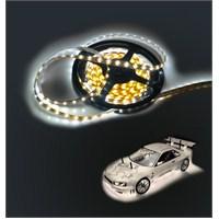 Auto 5mt Neon Beyaz Şerit Silikonlu Elastik Led Volt 11054