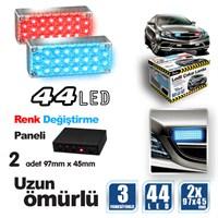 Automix 44 Led Mavi&Kırmızı Çakar Lamba