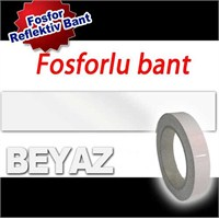 AutoCet 4 cm x 5 Metre BEYAZ Fosfor Bant (11651)