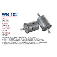 Wunder OPEL Vectra TIRNAKSIZ Tip Benzin Filtresi OEM NO: 818513