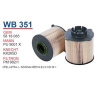 Wunder OPEL Meriva B 2.0 CDİ 09 > Mazot Filtresi OEM NO: 5818085
