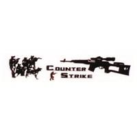 Counter Strike Aluminyum Dizayn Sticker 9 x 2 cm