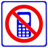 Telefon Konuşması Yasak Stickerı 11x11 cm