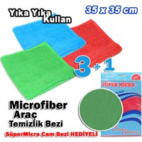 AutoCet 3+1 Microfiber Havlu Temizlik Bezi + SuperMicro Cam Bezi HEDİYELİ (11690)