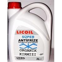 Licoil Antifiriz 3 Lt -37 derece (ORGANİK KIRMIZI)