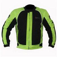 Xrider 1081 Cordure Kumaştan Üretilmiş Kısa 4 Mevsim Motosiklet Montu Yeşil - 5 Beden