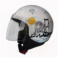 Sway 701 Open Face İtalyan Stil İstanbul Manzaralı Unisex Kask - 6 Beden