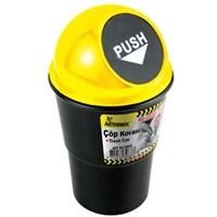 Automix Araç İçi Çöp Kovası Sarı