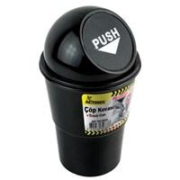 Automix Araç İçi Çöp Kovası Siyah