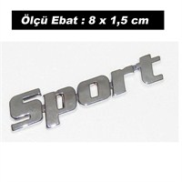 AutoCet SPORT Yazı Arma Sticker (51031)(11747