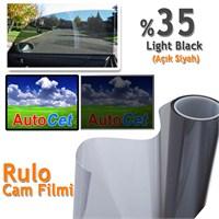 AutoCet 75 cm 10 MT Çizilmez Renkli Rulo Cam Filmi Açık Siyah % 35 L.Black (25263)