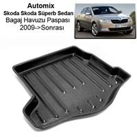 Automix Skoda Skoda Süperb Sedan Bagaj Havuzu Paspası 2009->Sonrası