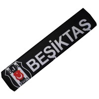 Beşiktaş Lisanslı Oto Emniyet Kemer Kılıfı Tekli Siyah Model