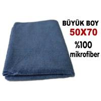 AutoCsi Büyük Boy (50cm X 70cm) Lüks Microfiber Temizlik Bezi 11209-Mavi