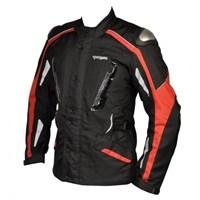 Prohel Botari Kışlık Uzun Motosiklet Montu (Kırmızı-Siyah)
