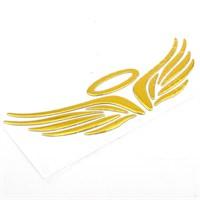 Solfera Melek Kanatları Otomobil Sticker Altın Renk Cs028