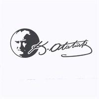 Atatürk Siluetli K.Atatürk İmzası Siyah 19 Cm
