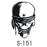 Sticker Masters Skull Bere Sticker