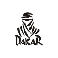 Sticker Masters Dakar Siyah Sticker