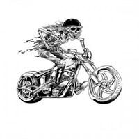 Sticker Mastersskull Motosiklet Sticker
