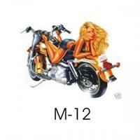 Sticker Masters Motosiklet M - 12 Sticker