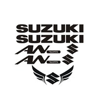Sticker Masters Suzuki An 125 Sticker Set