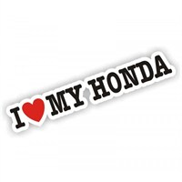 Sticker Masters I Love My Honda Sticker