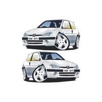 Sticker Masters Peugeot 106 Basık Araç Sticker
