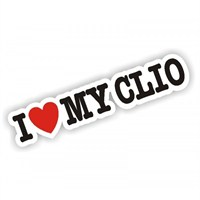 Sticker Masters I Love My Clio Sticker