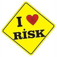Sticker Masters I Love Risk Sticker