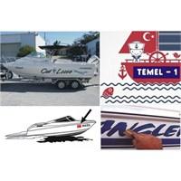 Sticker Masters Tekne ,Yat Ve Bot Üzeri Yazı Yazıyoruz..