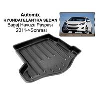 Automix Hyundai Elantra Sedan Bagaj Havuzu Paspası 2011->Sonrası->Sonrası Siyah