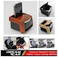Dreamcar Çok Fonksiyonlu Bardaklık+Küllük+Telefon Tutucu Birarada Gümüş 4607003