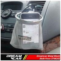 Dreamcar Metal Mesh Akıllı Kese Gümüş Büyük Boy 3306202